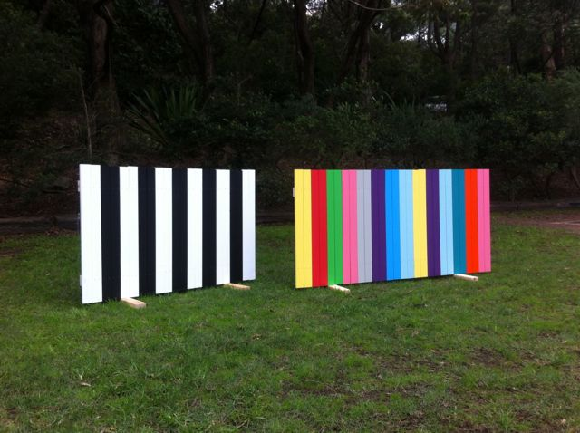 Francesca Mataraga 'a to b - picket' Sawmillers Sculpture 2014